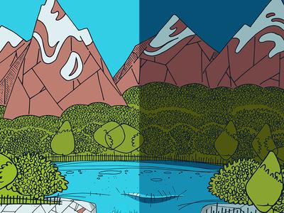 Sierra Nevada Snowboard Illustration pt. 2