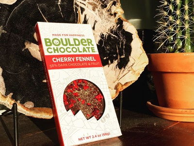 Packaging for Boulder chocolate