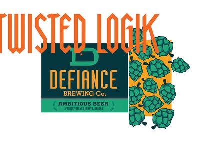defiance Brewing Co. Illustration Detail