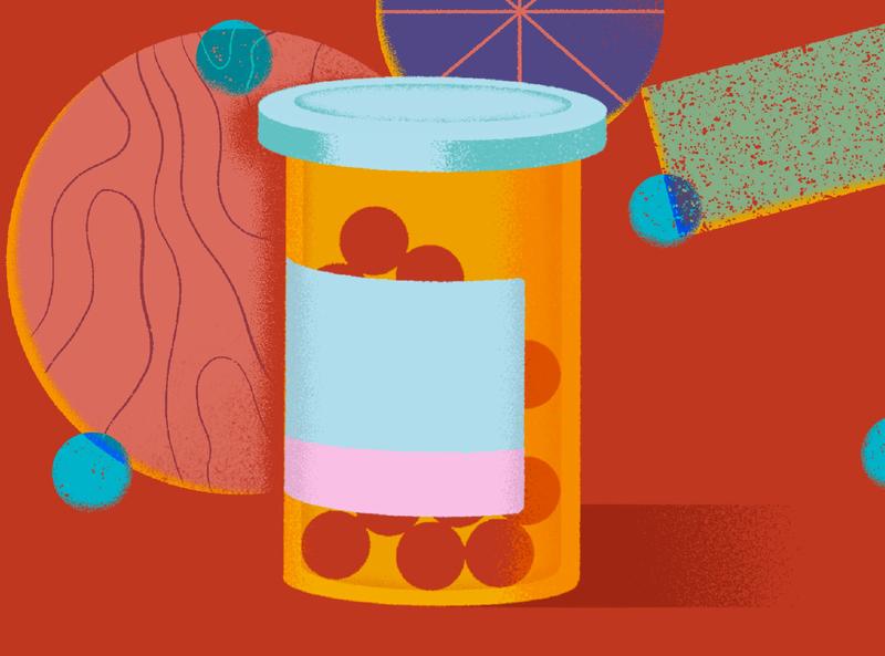Red dots texture procreateapp procreate design illustration art doctors doctor red illustration meds medication pills