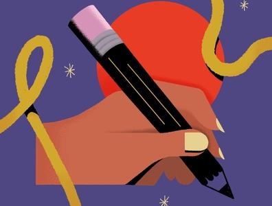 Learn some new skills skills write draw procreateapp procreate ipad pencil hand drawing design cute minimal texture illustration