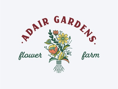 Adair Gardens logo brand design branding logodesign floral design logofolio bouquet flowers flower logo design logo floral