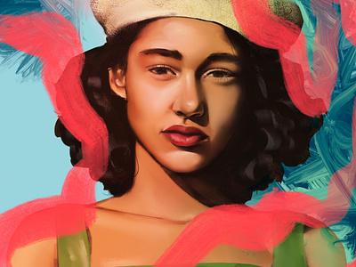 Portrait study #3 digital art paint illustration character procreate woman portrait girl