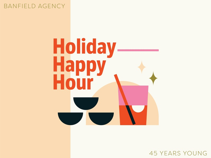 Holiday Party Invite invitation sparkle sparkles pink birthday iconography icon drink event party event illustration invite party