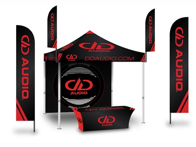 Tent, Table and Flags design