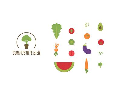 Compostate Bien - Illustration recycle nature food vegetable compost