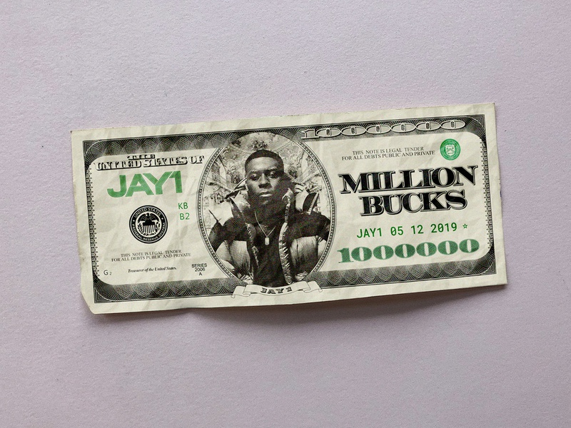 JAY1 - Million Bucks green note bank grime dollar bucks million money music jay1