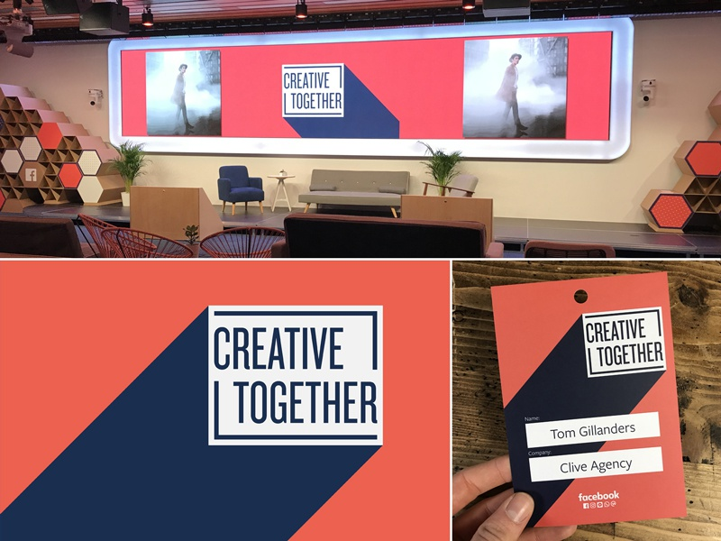 Creative Together together creative conference square event lanyard brand stage identity logo