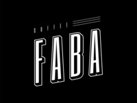 Coffee Faba lettering font typography type design faba coffee black branding ident logo