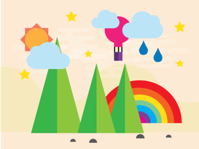 Interactive Forest interactive vector web html5 edge animate illustration interaction design