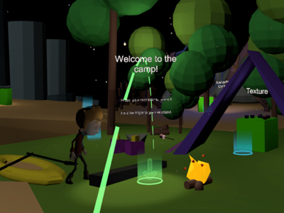 VR Design Campsite virtual reality low poly unity google blocks vr