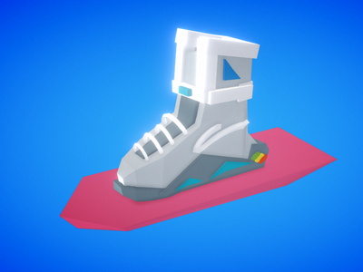 Self lacing shoe back to the future sneakers bttf render low poly virtual reality vr google blocks 3d