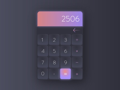 Calculator | Daily UI 004 sleek material modern gradient interface illustration calculator ux 004 ui daily dailyui