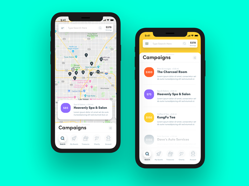Map/List View map view list view app design iphone x mobile ui  ux design