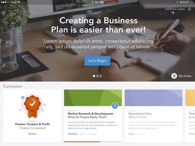 Business Education App - Animation