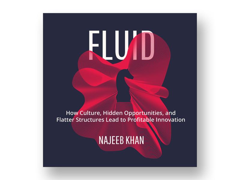 Fluid Book Cover By Najeeb Khan strategic design innovation book cover book branding