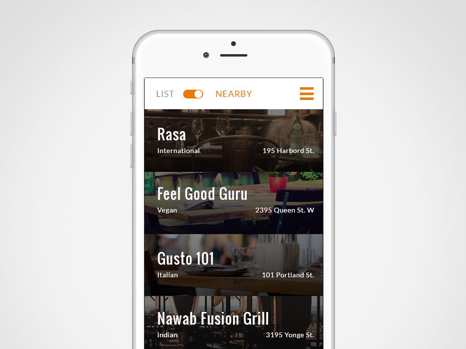 1FORhunger App UX mobile ui app ui design