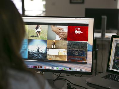 United Collab Website Large work grid responsive branding ui web design