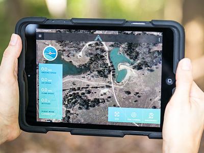 Aerotestra App UI drone stats interface map design app navigation ux ipad ios retina ui