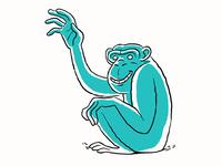 Waving Chimp