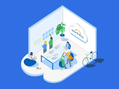 A UX Design Startup Story workday flat illustration vector collaborative workmates best place to work culture fun inclusive startup design ui ux