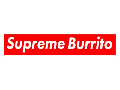 Supreme Burrito supreme twisted logos street wear red logo food