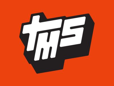 Terry Makes Stuff block lettering red vermillion identity brand logo
