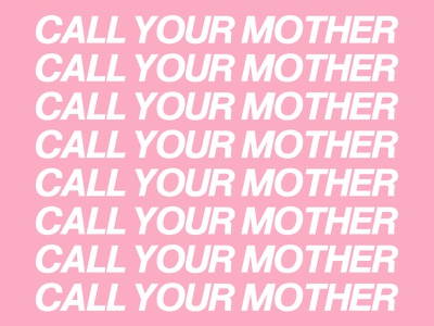 CALL YOUR MOTHER mommy text pink cover hotline bling drake album