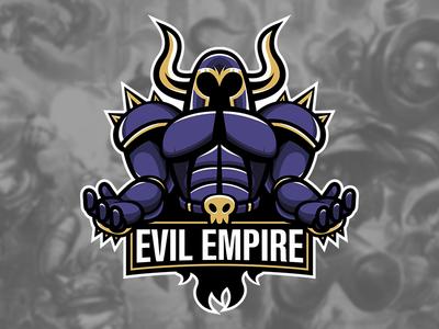 Team Evil Empire mock brand logo boss emperor mascot esports sports