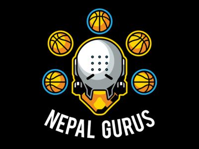 Nepal Gurus headshot head vector basketball sports nba logo esports zenyatta overwatch
