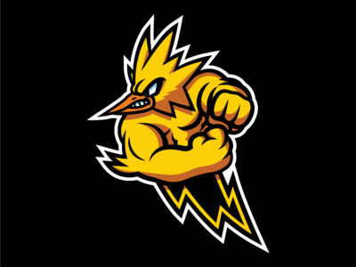 Instinct (Shaded) logo mascot esports pokego go pokemon team yellow instinct zapdos