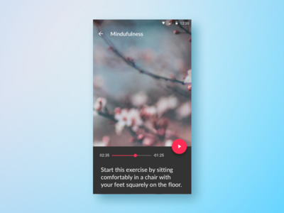 Mindfulness Audio Player audio player inclusive 508 accessibility meditation app mindfulness android material ux ui