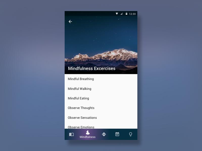 Bottom Navigation Bar Exploration ux ui tab tabbar app mindfulness google android material bar navigation bottom