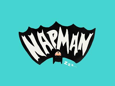 Napman photoshop parody batman threadless illustration funny nap