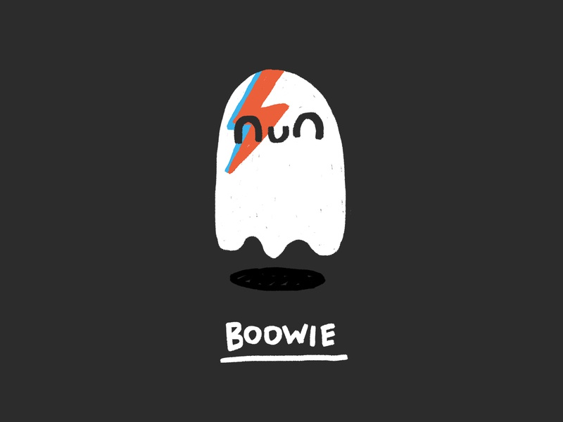 Boowie funny photoshop design illustration cute bolt music davidbowie bowie boo ghost