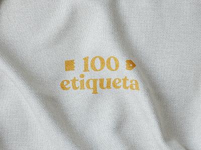 100etiqueta platform recycle typography ui logo design branding