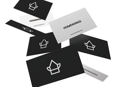 Homewings minimal web ux ui flat logo typography design branding