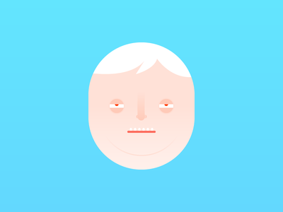 Faces illustration colours funny ugly flat characters faces