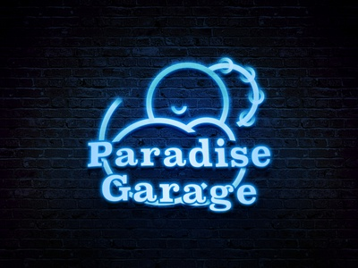 Paradise Garage Logo Redesign branding design lgbt davidmancuso gay rainbow dance clubbing nightlife disco logo