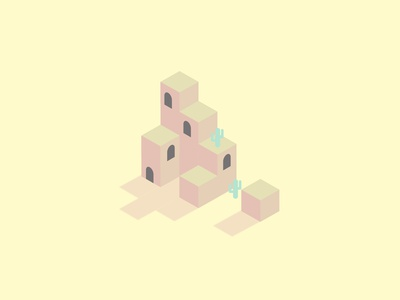 Desert Ruins. illustration graphic design landscape