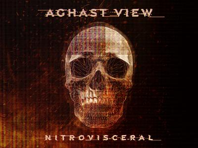 Aghast View - Nitrovisceral wireframe glitch skull art skull album cover design album cover album art design