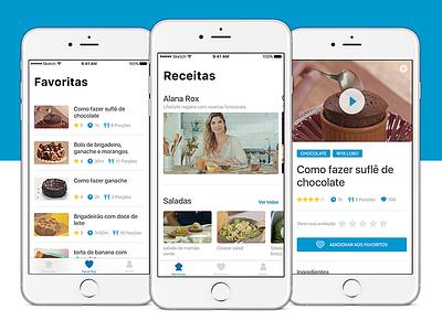 Gourmet App ui recipe food ios11 ios iphone app