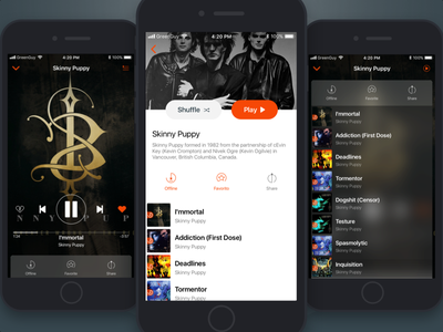 Music Player ux player music mobile ios ui