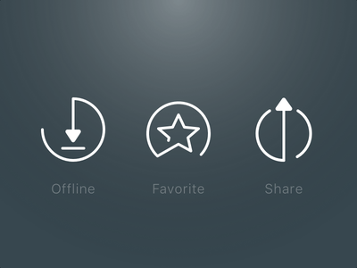 Music Playlist Icons share favorite download music icons android ios mobile ui