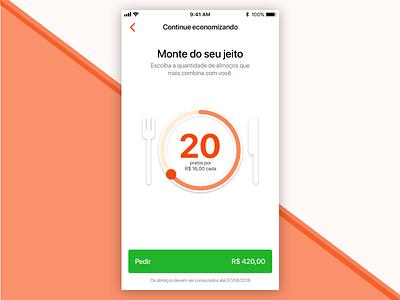 Lunch Slider UI ui food ios android mobile slider