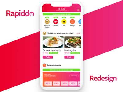 Rapiddo Home rapiddo taxi food delivery superapp redesign ui mobile