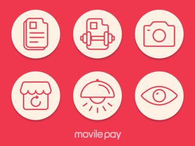 Icons for MovilePay Wallet