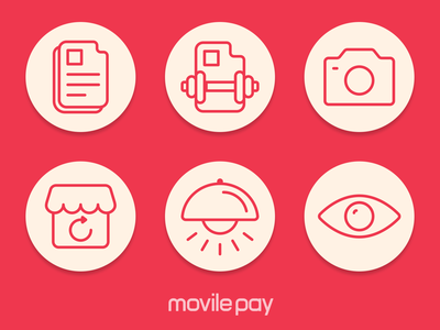 Icons for MovilePay Wallet store visible lamp photo ui files icons