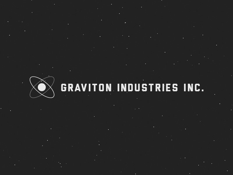 Graviton Industries Inc. graviton industries inc game logo logotype logomark particles liberator