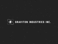 Graviton Industries Inc. graviton industries inc game logo logotype logomark particles liberator